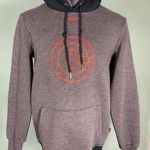 Cuzy T Men's Grey/Orange Long Sleeve Winter Hoodie